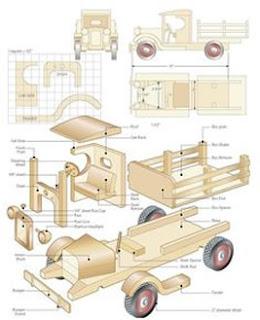 plan de camion jouet en bois