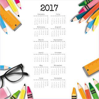2017カレンダー無料テンプレート134