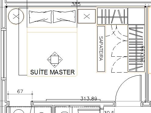 A r q u i t e t u r a d e s i g n projeto residencial for Dormitorio 10m2