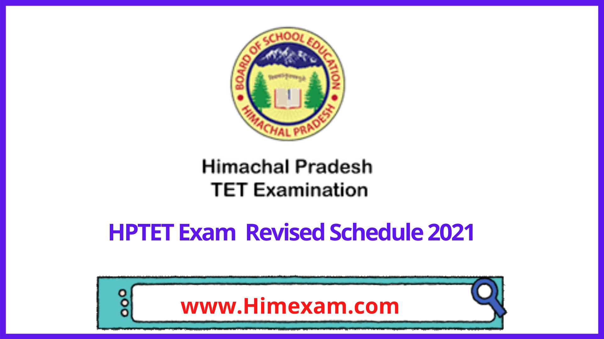 HPTET Revised Schedule 2021