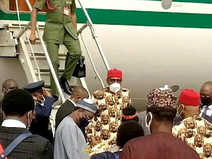Buhari Arrives Imo As Residents Comply With IPOB's Initial Sit-At-Home Directive