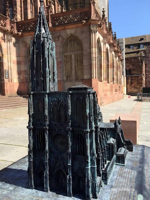 Bronze 3D model of the Cathédral Notre-Dame de Strasbourg