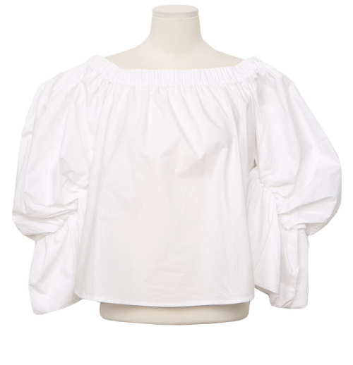 Balloon Sleeve Off-Shoulder Blouse