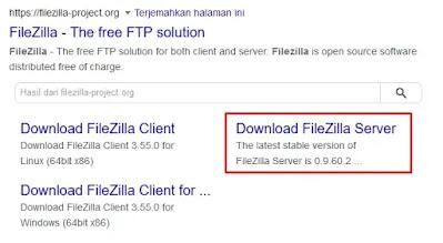 Unduh FileZilla Server