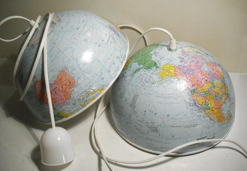 World Globe Pendant Lamps Plus Diy