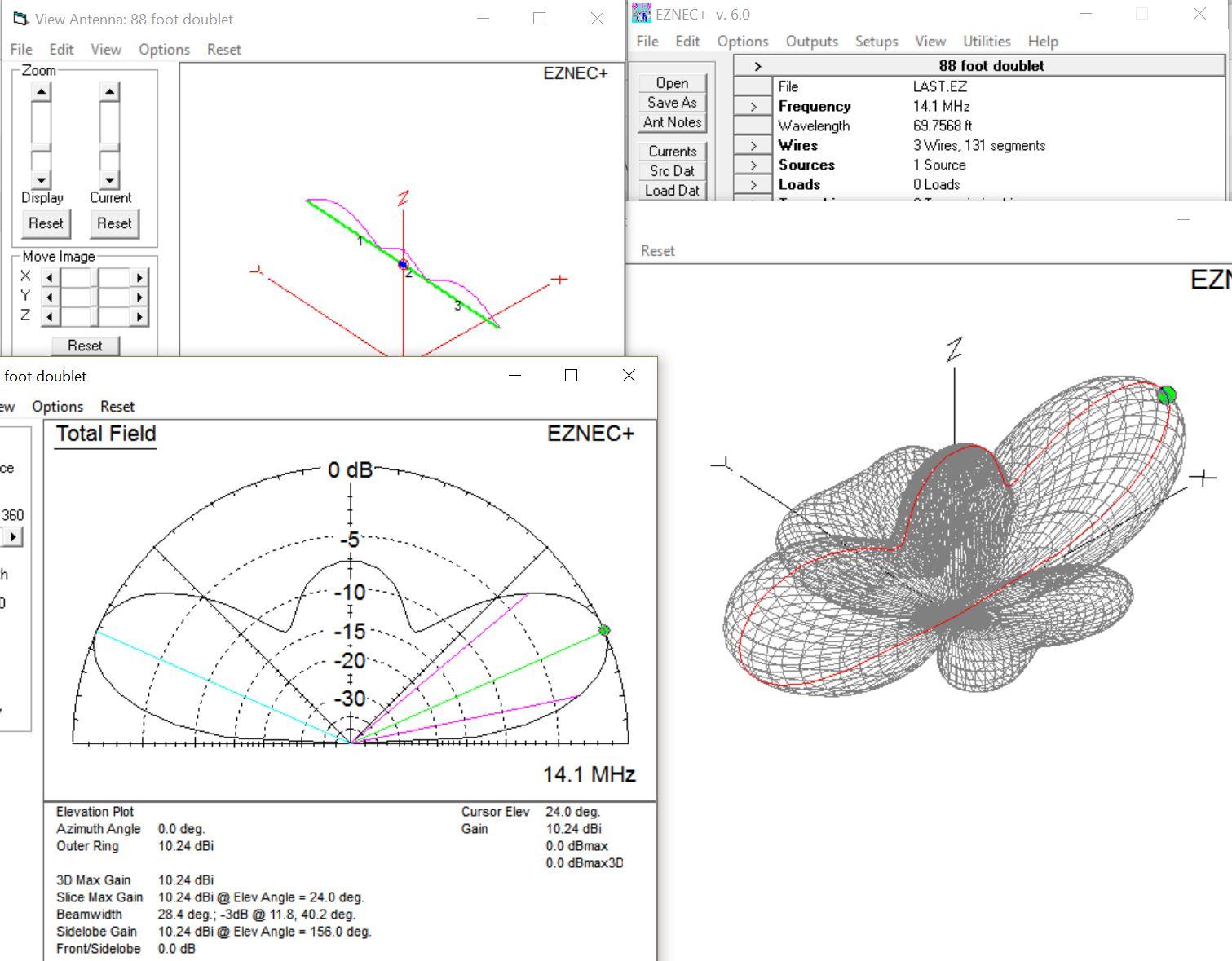 88 Foot Doublet 20m Patterns | WV0H Myron