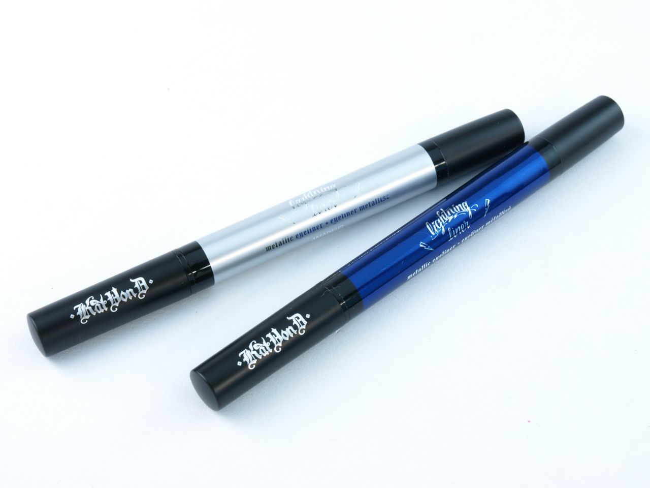 "Kat Von D Lightning Liner Metallic Eyeliner in ""Bach"" & ""Amadeus"": Review and Swatches"
