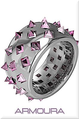 ♦Armoura Fibonacci platinium ring with 42 clear brilliant cut pink diamonds #jewelry #armoura #brilliantluxury