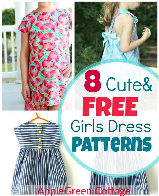 8 Adorable Free Little Girl Dress Patterns - AppleGreen Cottage