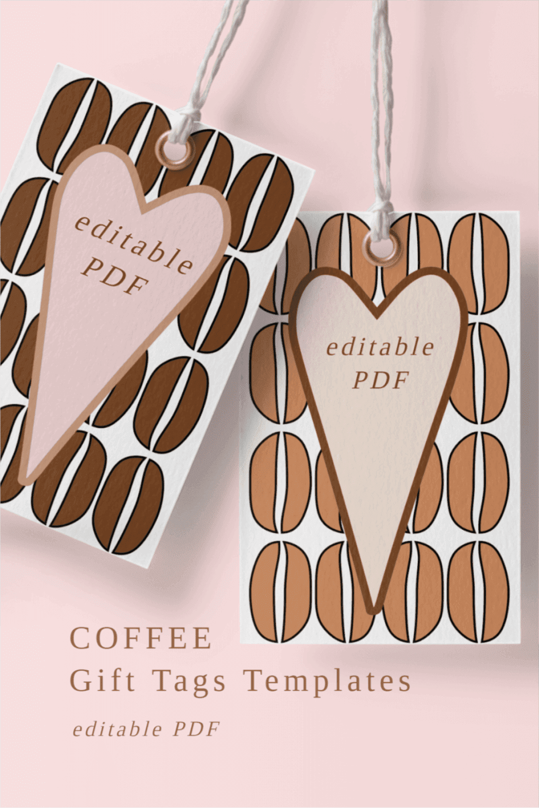 TAGS WITH COFFEE BEANS