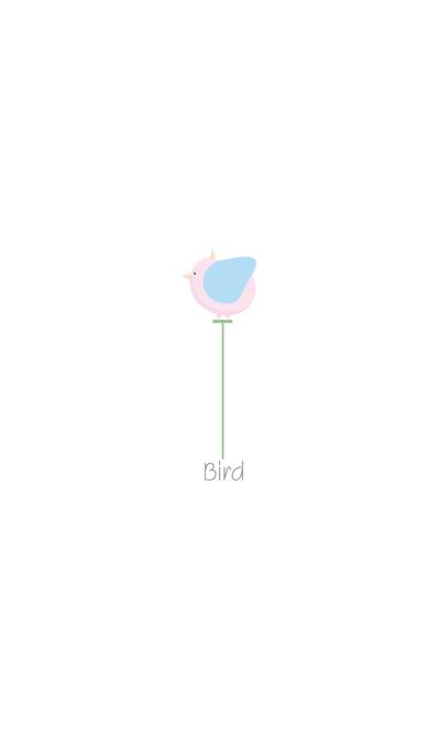 Pink bird.