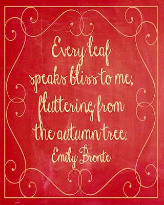 Emily Bronte Fall quote