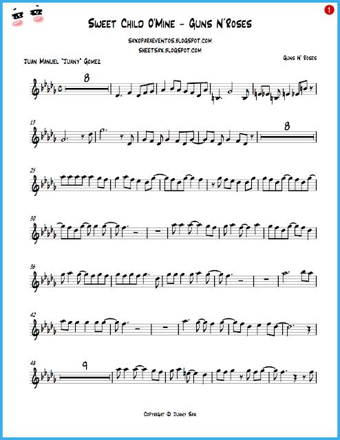 sweet child of mine chords pdf