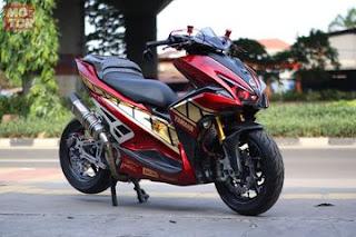 Gambar Modifikasi Yamaha Aerox 155 memakai Monoshock - 7