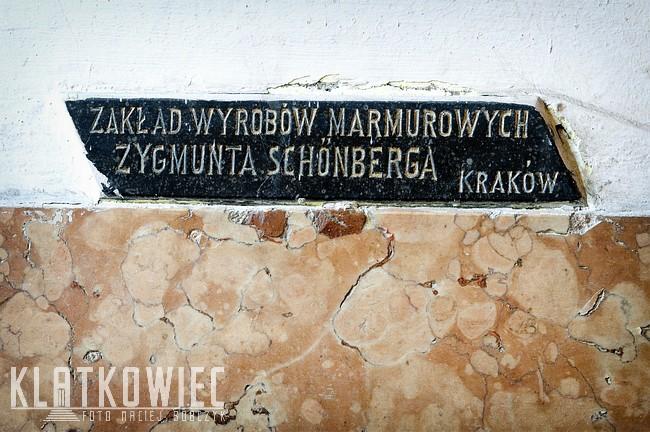 Kraków: Zakład wyrobów marmurowych Zygmunta Schönberga