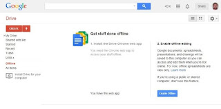 cara memakai google drive offline