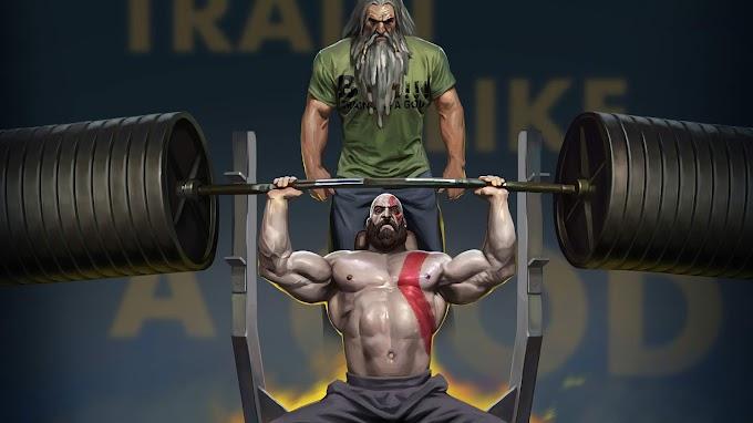Papel de Parede Kratos Malhando com Pai