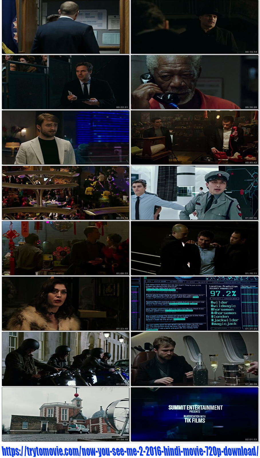 Now You See Me 2 2016 Hindi Movie 720p Download