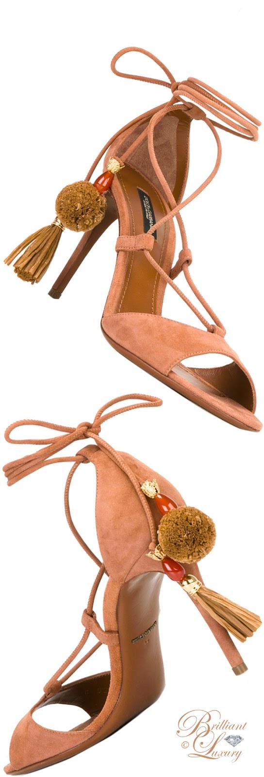 Brilliant Luxury ♦ Dolce & Gabbana Pom Pom Tassel Sandals