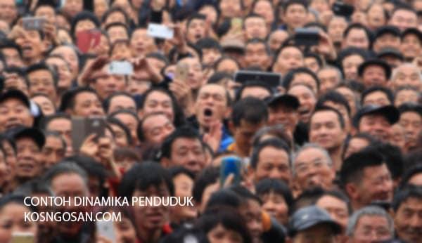contoh dinamika penduduk