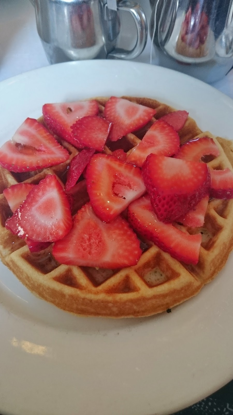 The 1428 in Haight Ashbury Strawberry Waffles