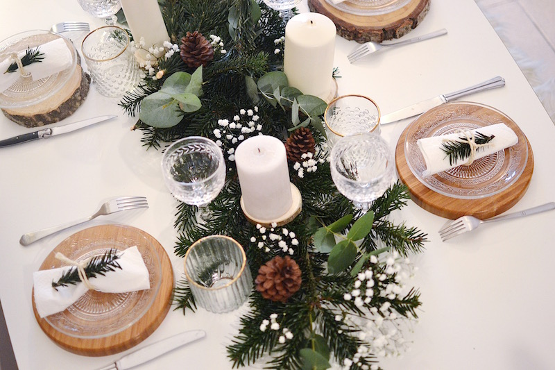 table de noël esprit scandinave