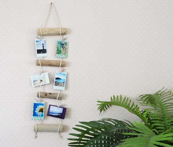 diy porte photos en bois flott caro dels blog diy et loisirs cr atifs. Black Bedroom Furniture Sets. Home Design Ideas