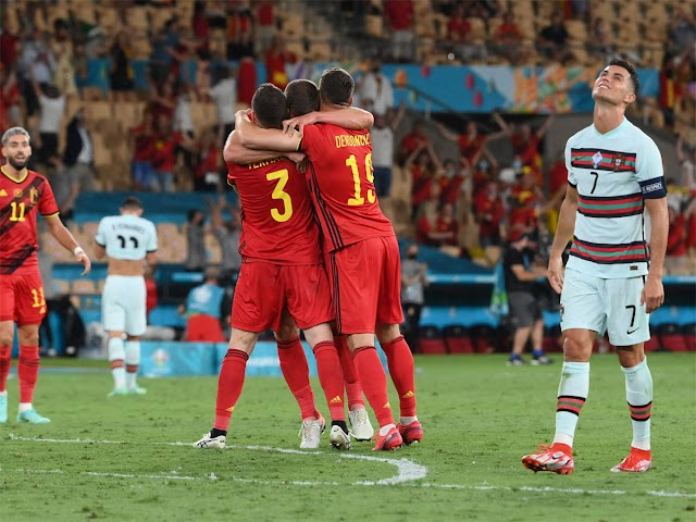 Euro 2020: Hazard rocket fires Belgium past holders Portugal and into last eight