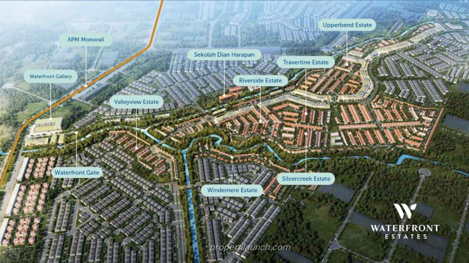 Siteplan Waterfront Estate Lippo Cikarang