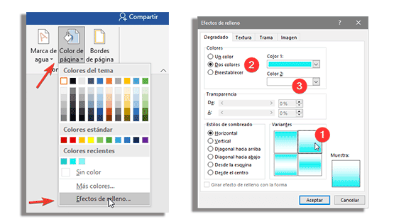 aplicando degradado al color de la Infografia