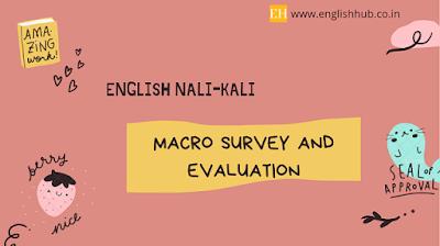 Macro Survey and Evaluation of English Nali-Kali