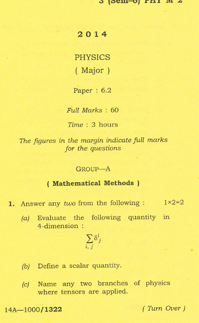 Physics paper 1 2014 array gauhati university b sc physics paper 6 2 major 2014 question paper rh indianuniversityquestionpapers fandeluxe Image collections
