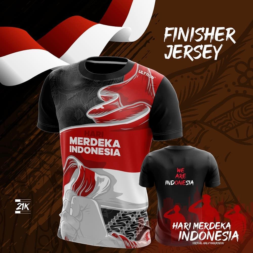 Tee 21K 👕 Hari Merdeka Indonesia Virtual Half Marathon • 2021