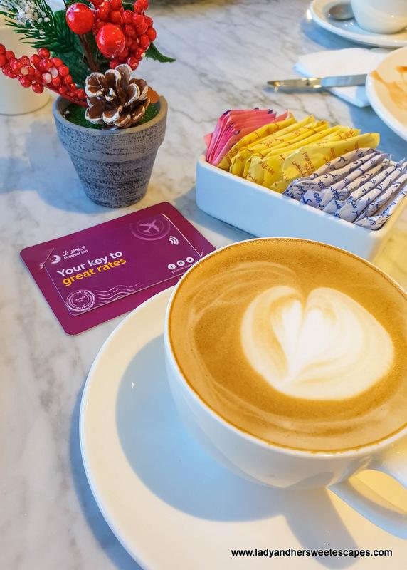 coffee in Premier Inn Dubai Dragon Mart