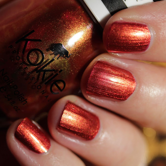 Kokie Cosmetics Honey Nectar swatch by Streets Ahead Style
