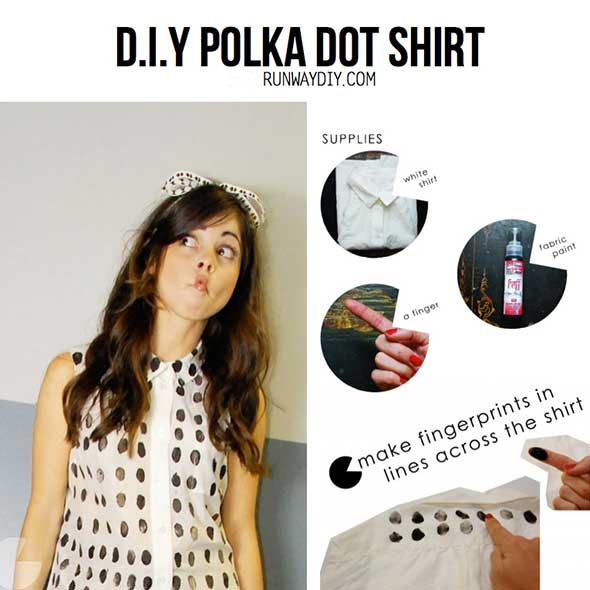 camiseta, huellas digitales, bricomoda, customizar, diys