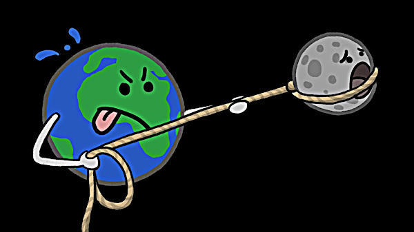 Gravity's Lunar Lasso - Tidal Locking Explained
