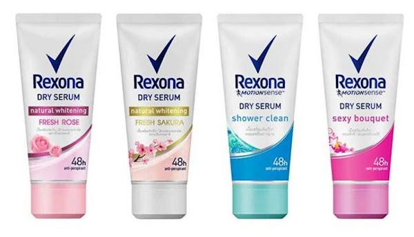Rexona Dry Serum Rose Sakura Whitening Shower Clean Sexy Bouquet