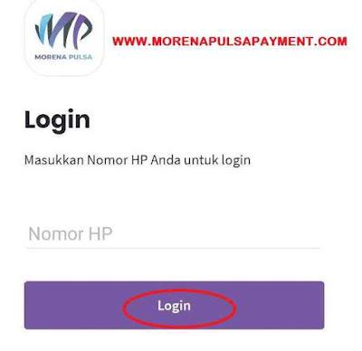 Login Aplikasi Morena Mobile Topup