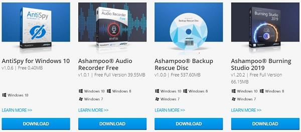 Ashampoo Free Product