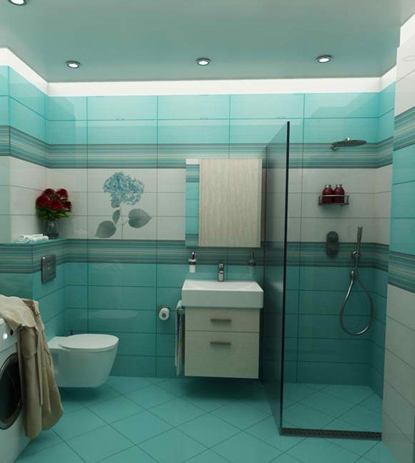 Turquoise Interior Bathroom Design Ideas