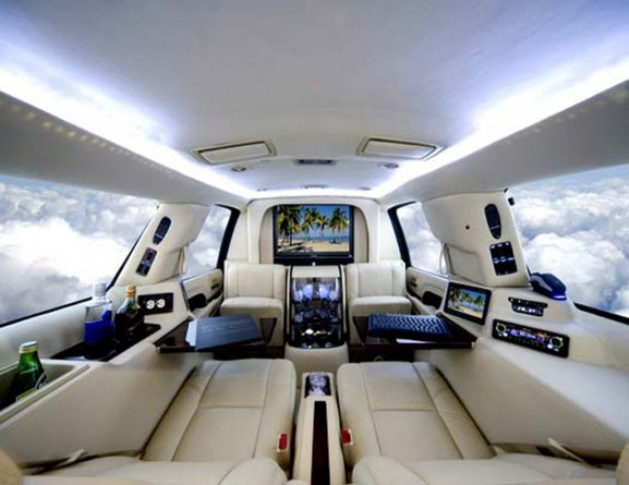 Luxury car interior design