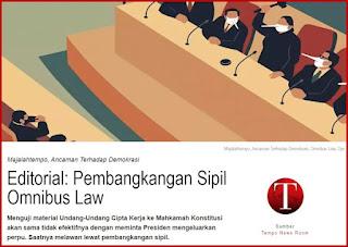 """Majalah Tempo Tuding KAMI dan 212 """"Tunggangi"""" Demo Omnibus Law Untuk Kepentingan Politik"""