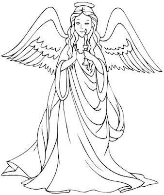 Christmas Angel Coloring Pages For Kids Coloring Page For Kids