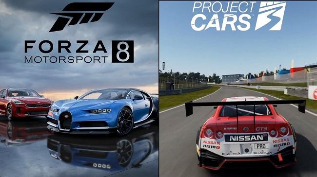 Comparison of Forza Motorsport 8 vs Project Cars 3