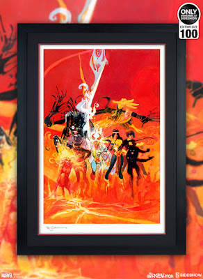 New Mutants Fine Art Giclee Print by Bill Sienkiewicz x Sideshow Collectibles x Marvel Comics