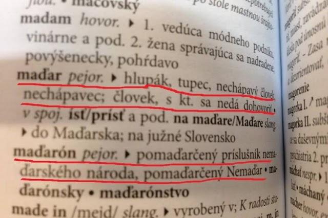 A magyar, mint a hülye szinonímája – az új szlovák szlengszótár szerint