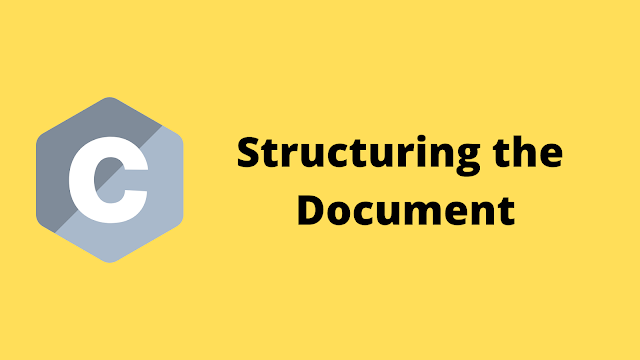 HackerRank Structuring the Document solution in c programming