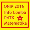 Info Lomba : ONIP 2016 di P4TK Matematika Yogyakarta