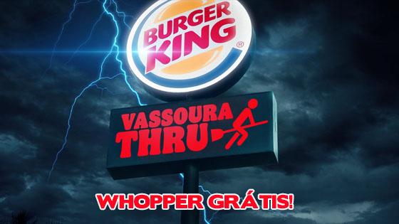 Vassoura Thru: Ganhe um Whopper do Burger King no Dia das Bruxas